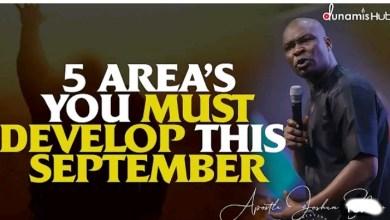 Joshua Selman Daily Sermons 8 September 2021  FIVE AREAS 