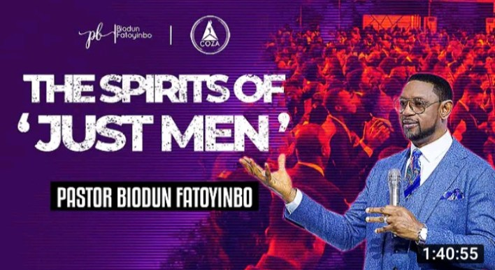 Biodun Fatoyinbo Daily Message 16 September 2021 - The Spirits of a Just Man