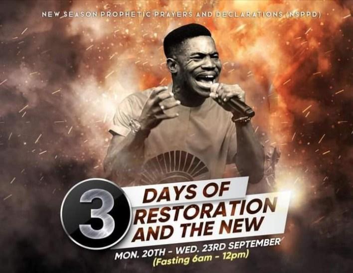 Live NSPPD Jerry Eze Prophetic Prayers 20 September 2021 - Restoration