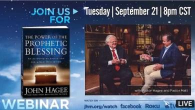 Live John Hagee Daily Message 22 September 2021 - Prophetic Blessings