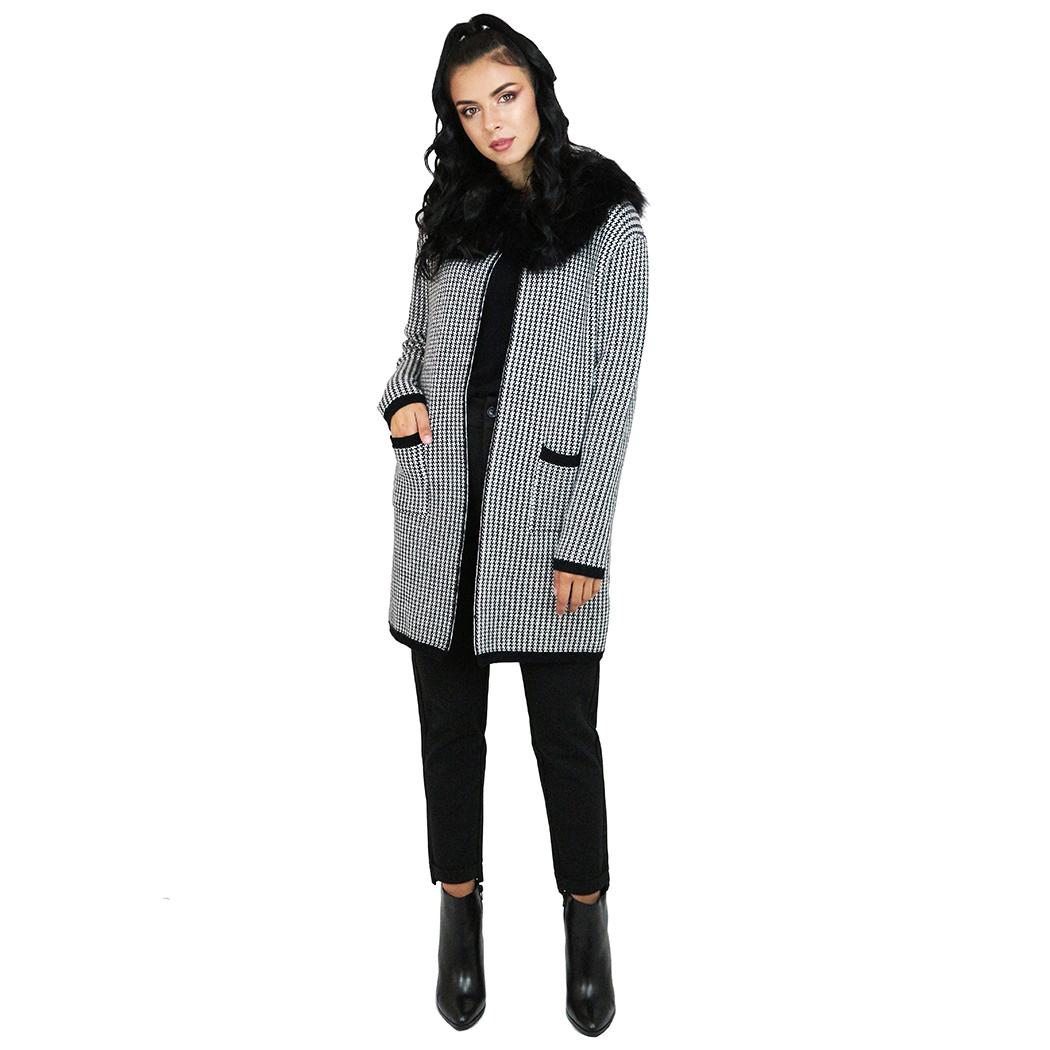 Jachetă Franco Ferri Print Alb/Negru