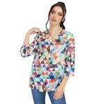 Bluză Franco Ferri Print Multicolor