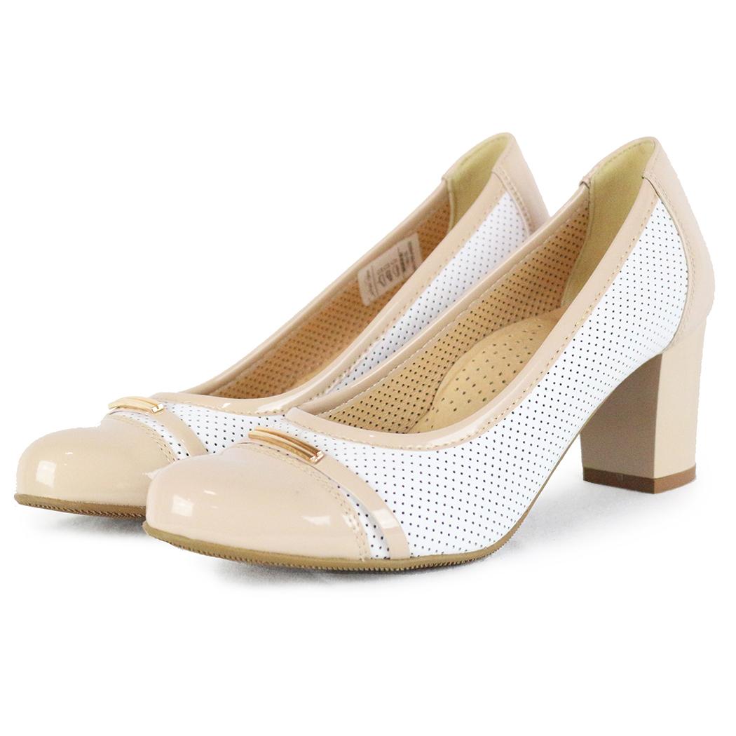 Pantofi Conhpol Albi/Bej