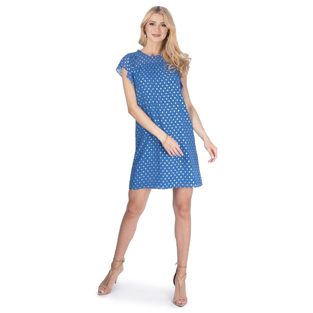 Rochie Caramel Albastră