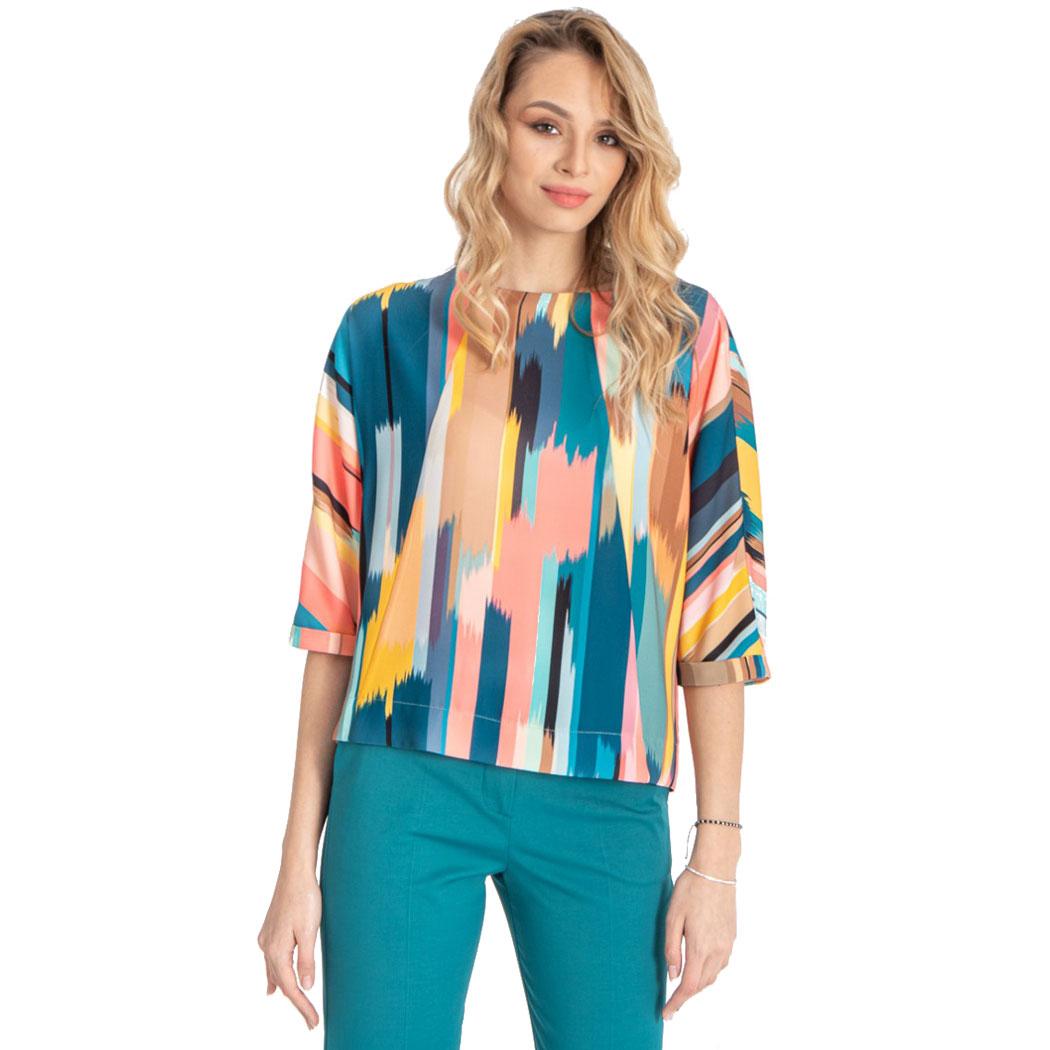 Bluză Hermosa Print Multicolor