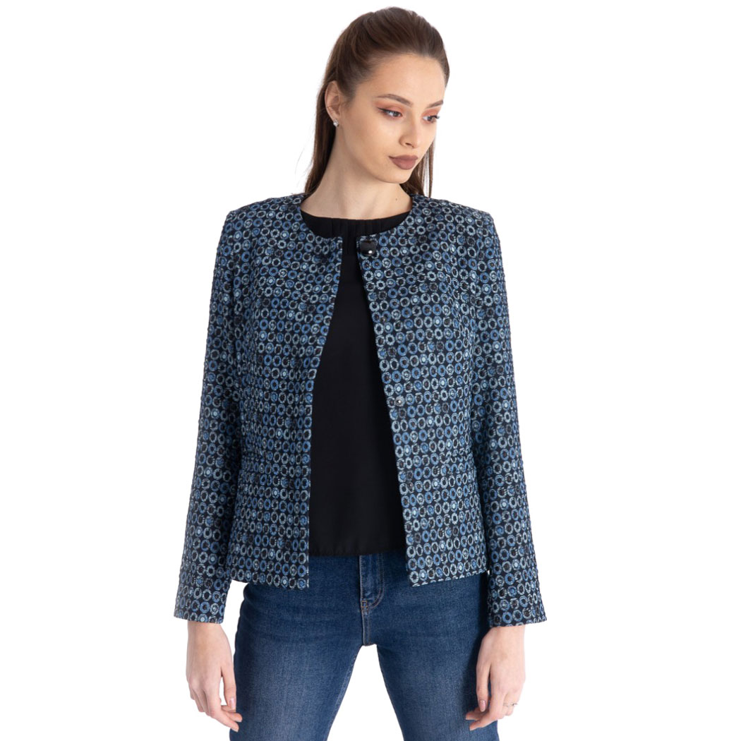 Jachetă Hermosa Bleumarin