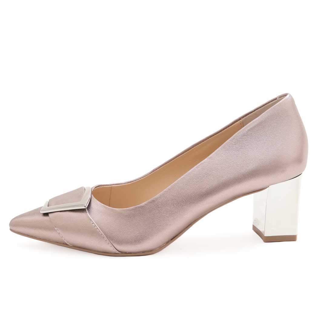Pantofi Caprice Roz Metalizat