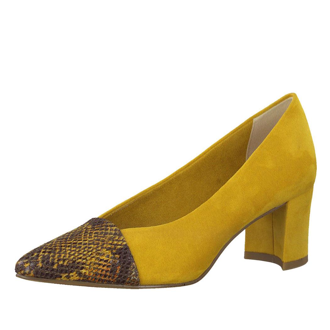 Pantofi Marco Tozzi Galbeni