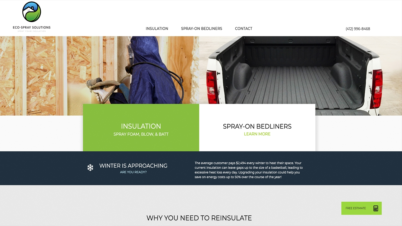 EcoSpray Solutions Reflex Website Design