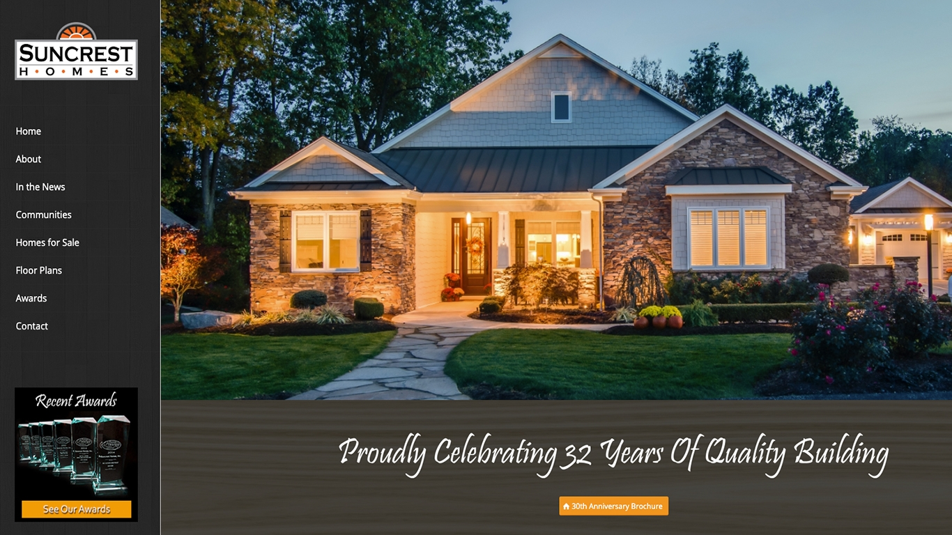 Suncrest Homes Reflex Website Design