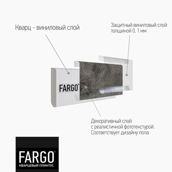 Кварцевый плинтус Fargo 33-64W929 Дуб Сиена
