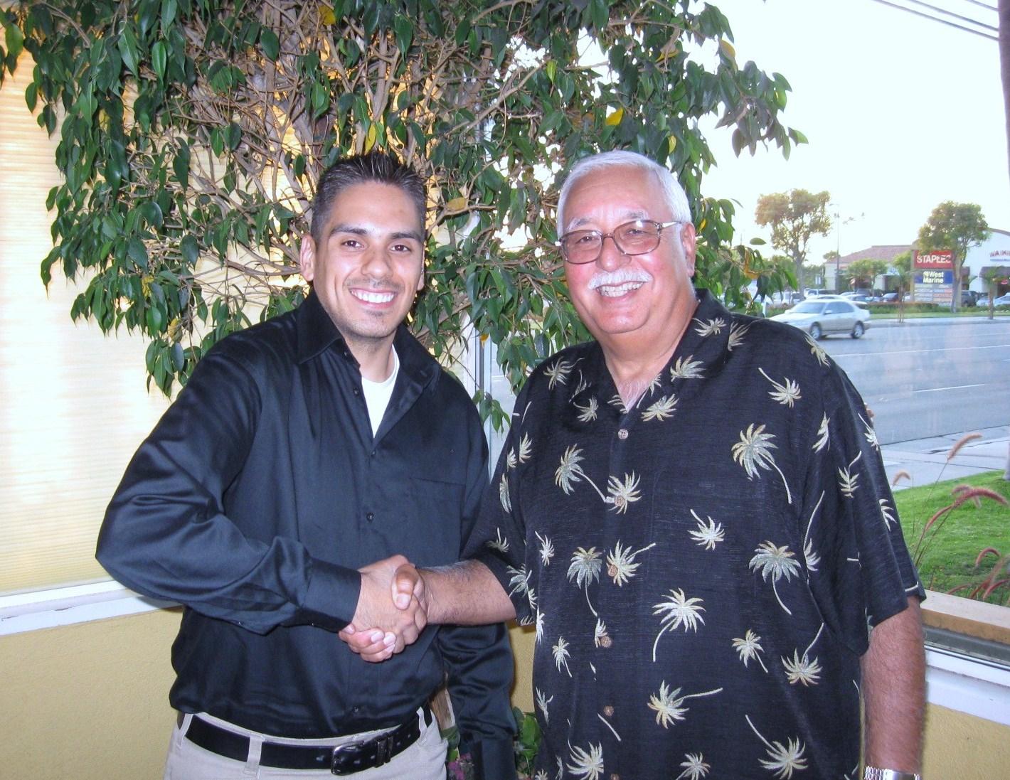 2009 Ayala Family Scholarship recipient, Edward Luna & John Ayala