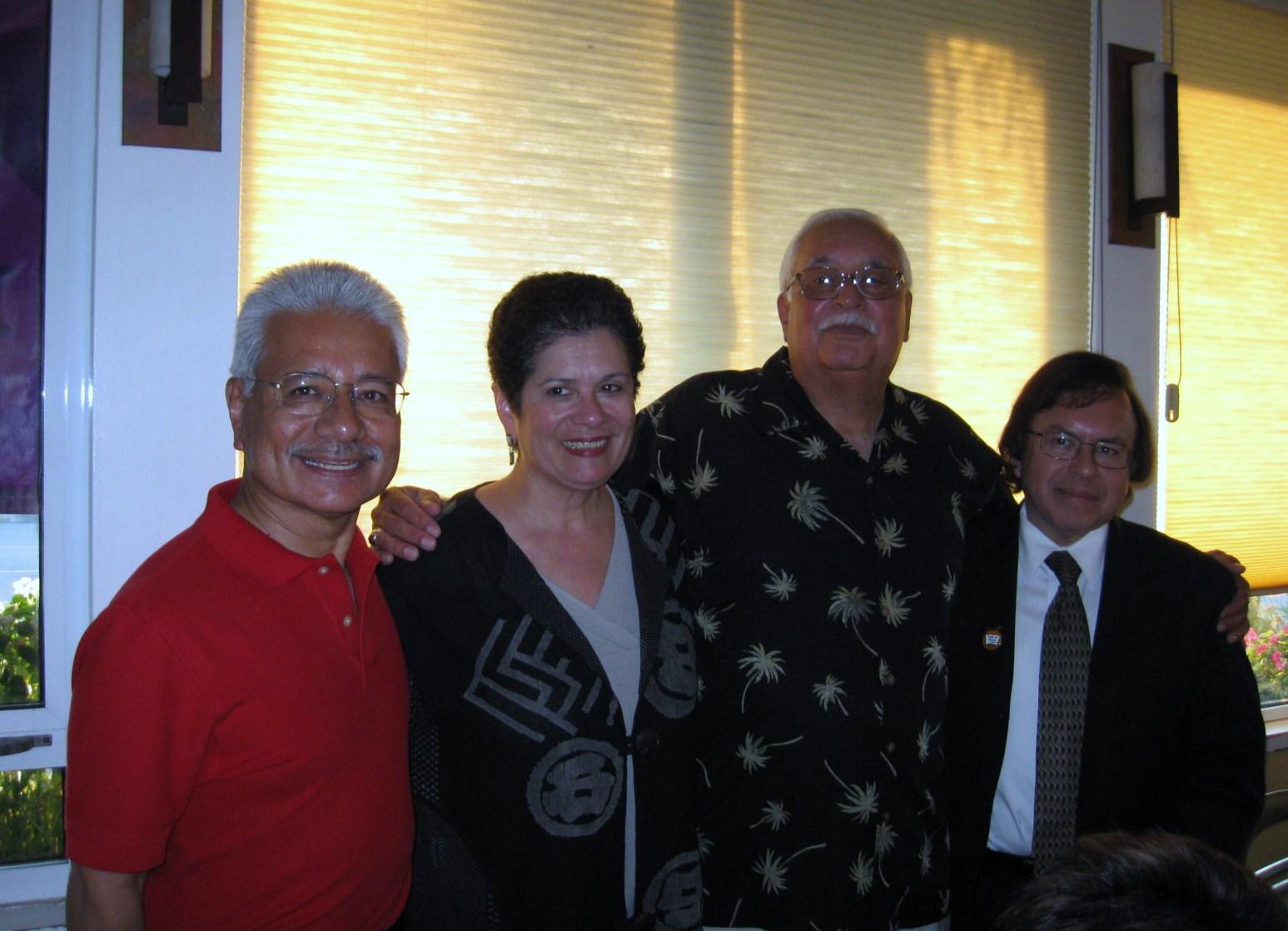 Al Milo, Susan Luevano (2009 Winner), John Ayala, Ron Rodriguez (2008 Winner)