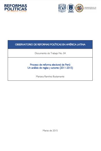 Reforma electoral: actores, procedimiento y discurso [2018]