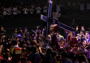 Millions of Filipinos Line the Streets to Fawn Over Black Statue of Jesus