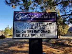 "Intrepid Pastor Who Posted ""Bruce Jenner is Still a Man"" on Church Sign Ousted as Pastor"