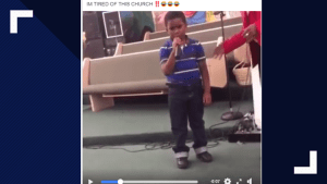 "Kid Gets Spanked For Taking Mic At Church and Saying ""I'm Tired of this Church"""