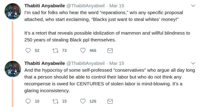 thabiti anyabwile on twitter reparations money idolatry