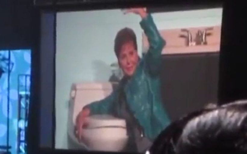 Joyce Meyer toilet