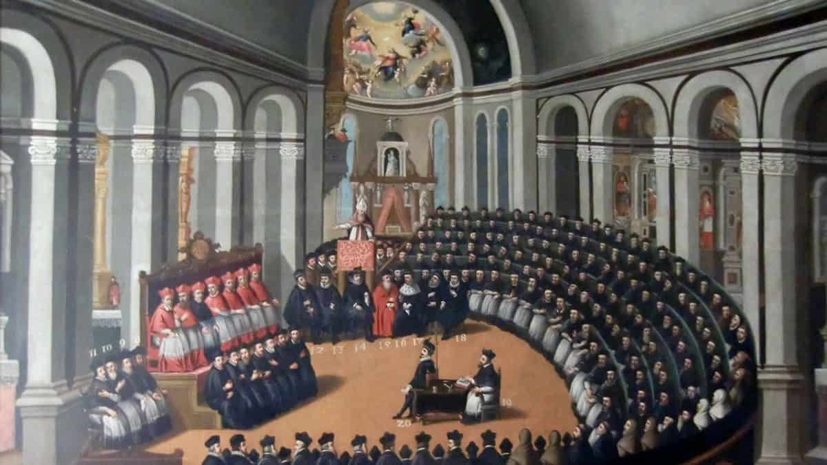 Council of Trent, painting in the Museo del Palazzo del Buonconsiglio, Trento