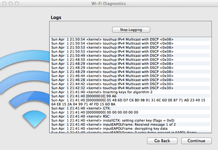 Apple Mac OSX Snow Lion Wi-fi Diagnostics
