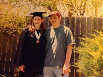 My brother and I at my high school graduation.