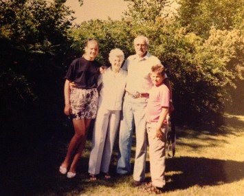 My brother and I with my grandparents. My grandfather just passed away this spring.