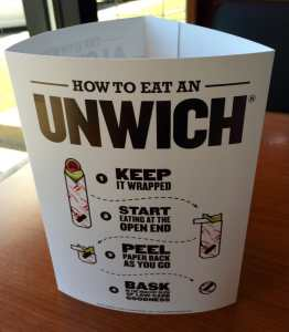 Jimmy Johns how to eat unwich