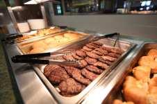 Dining Hall Food Burgers Buffet