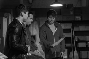 On Day 3 of filming, Jeremy and Jourdan Steel run lines with Scott Galbraith, the Co-Writer and lead actor on the film.
