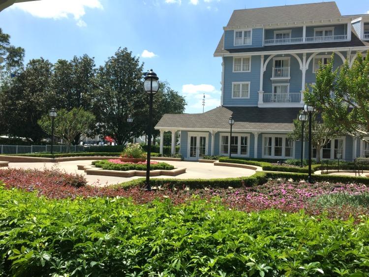A garden room view from Disney's Beach Club Resort!