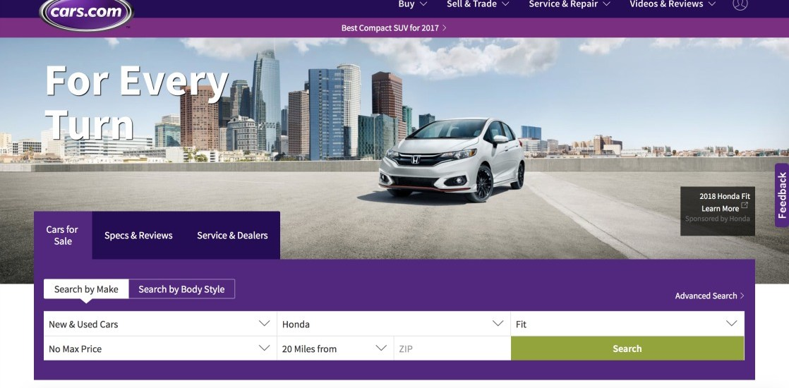 Cars.com is a helpful one stop shop for all of your vehicle buying and care needs!