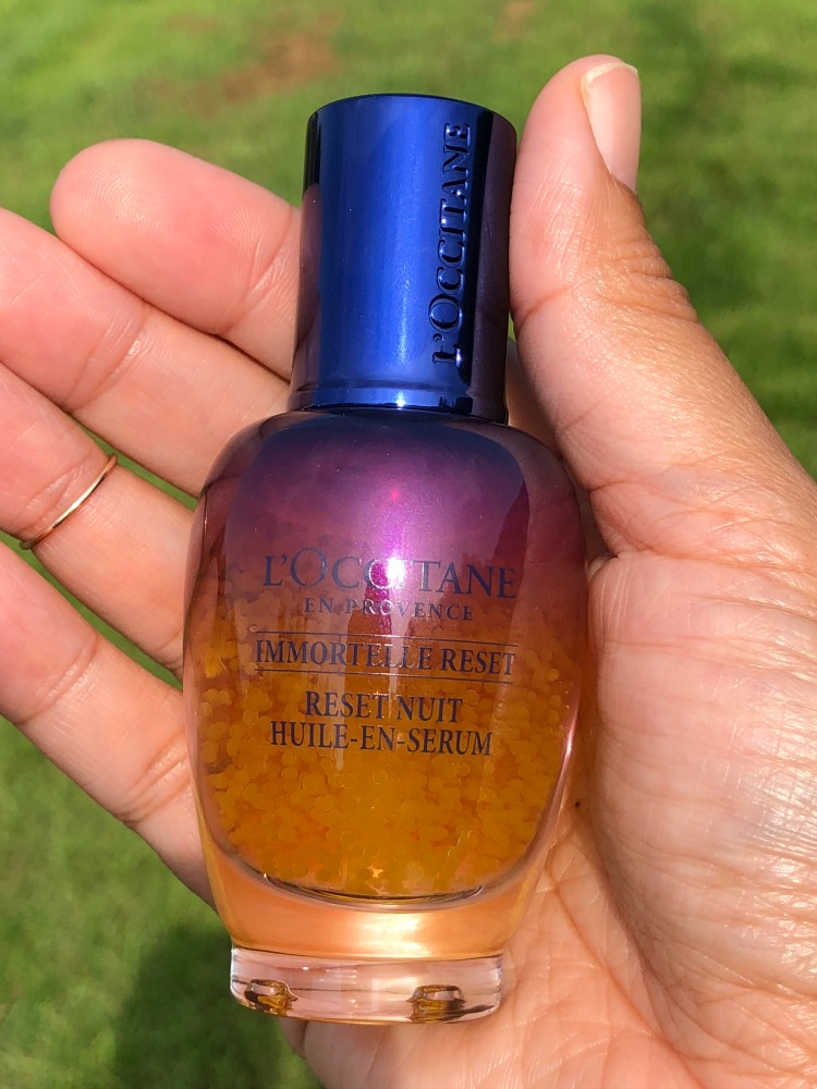 This new Immortelle oil-in-serum from L'Occitane works to give skin a refresh overnight.