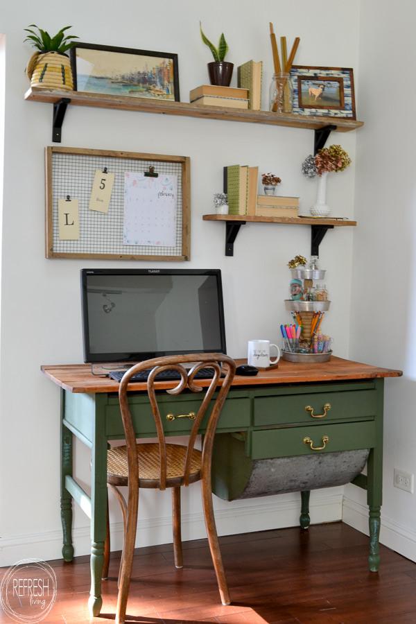 Vintage Modern Home Office Reveal 100 Room Challenge
