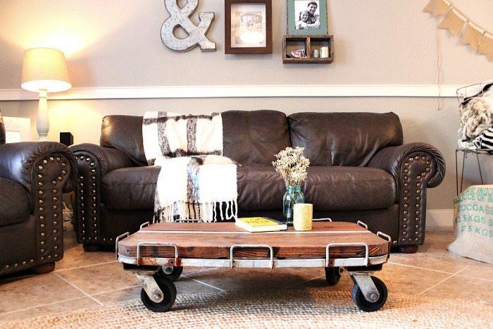 industrial cart coffee table diy