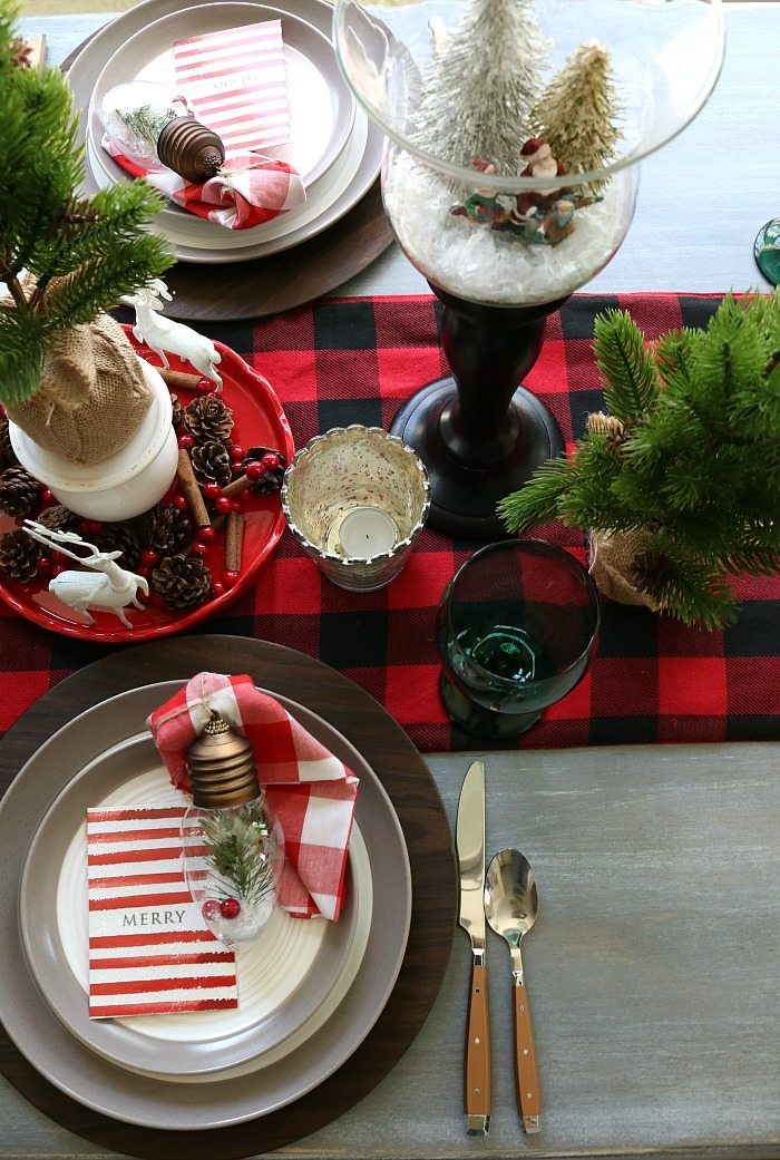 Farmhouse Christmas Tablescape Refresh Restyle