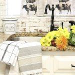 Dishtowel Curtains Refresh Restyle