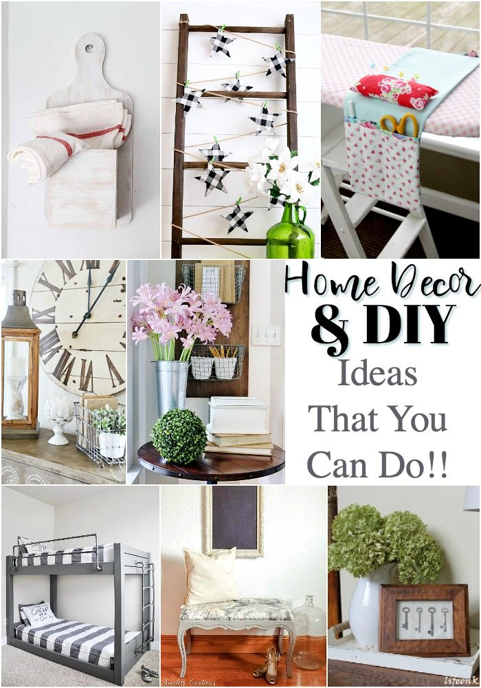Here are 8 home decor diy ideas that you can do