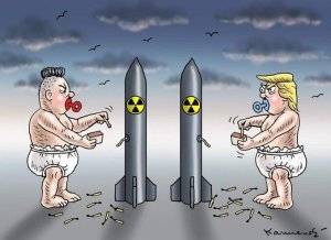 Trump Kim cartoon