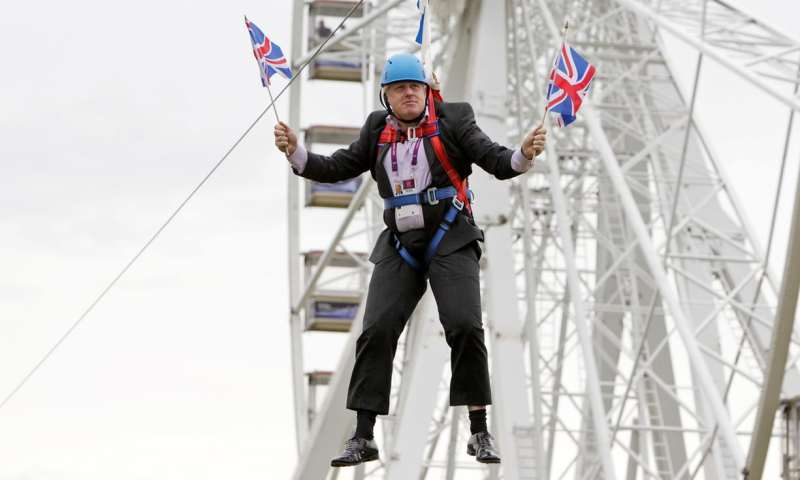 boris johnson abseiling