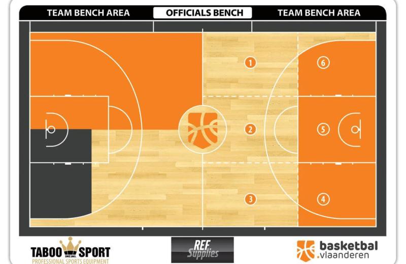 Magnetisch Basketbal.Vlaanderen pre-game bord TABOOSPORTS