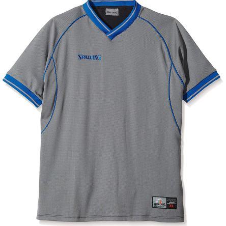 RETRO – Spalding scheidsrechtersshirt grijs/royal blue