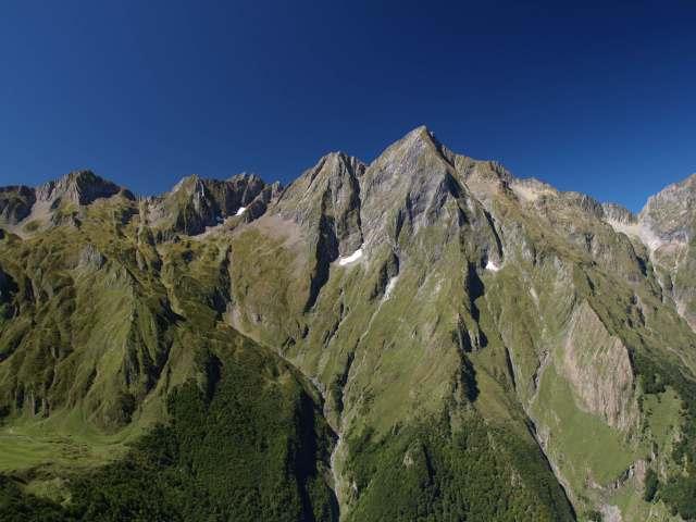 Le Mont Valier vue de Seix