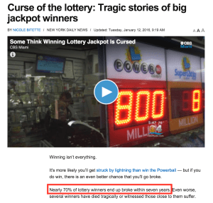 Why Powerball and lottery winners go broke