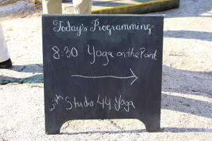 Yoga on the Point at Island Breakfast