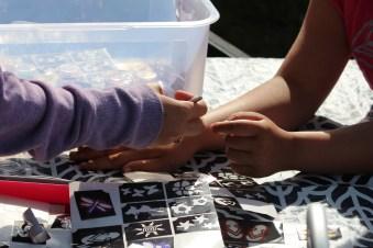 Glitter Tattoos applied during Island Breakfast