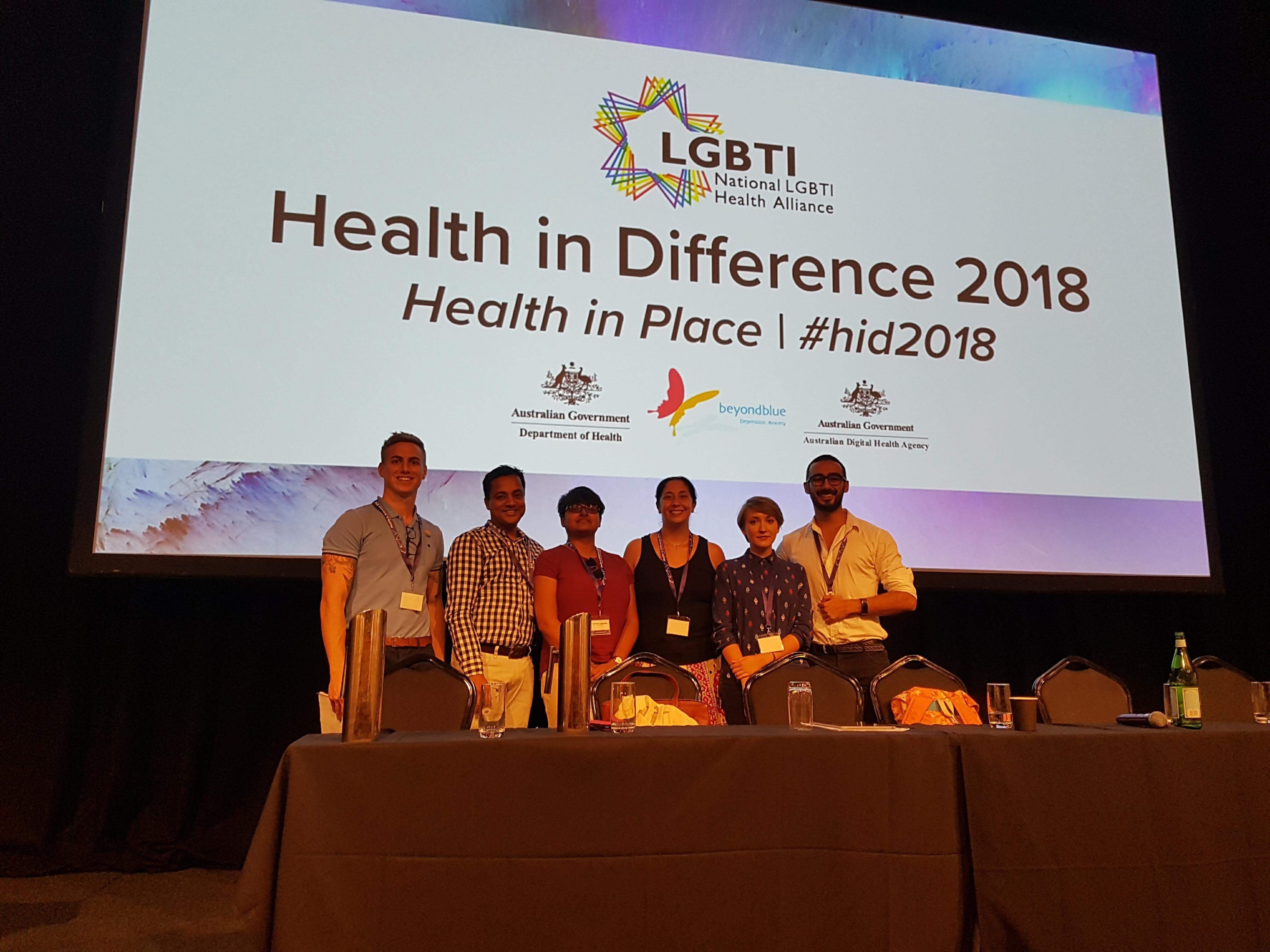 Brett Hatfield presents on LGBTI refugees at the Health in Difference Conference 2018