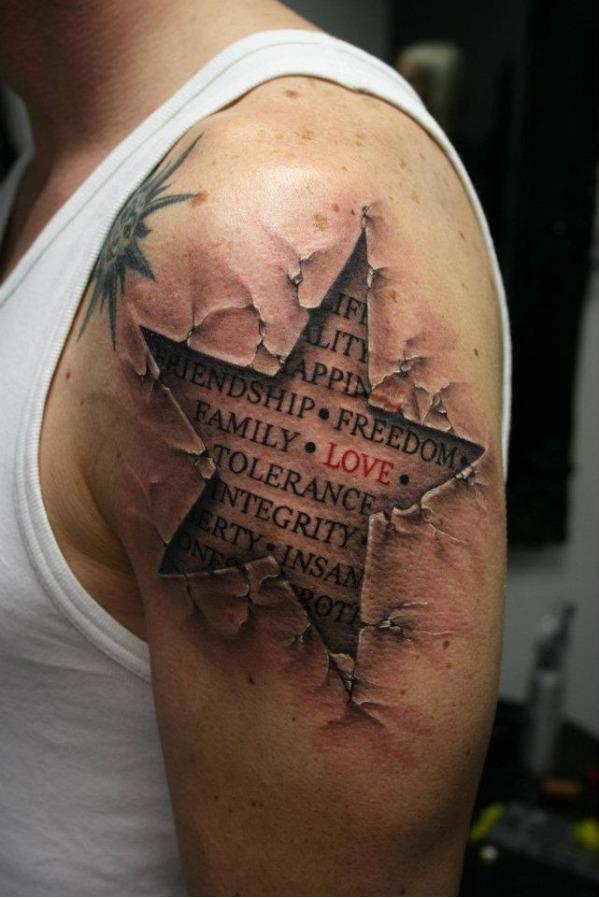 3D-Tattoos-estrella