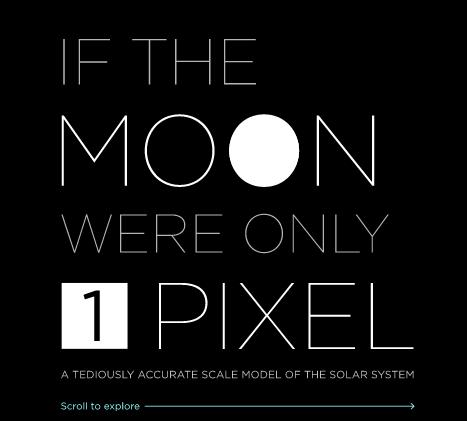 si la luna fuera un pixel