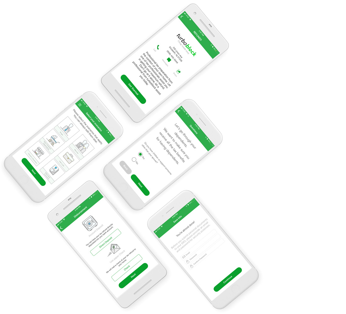 Connect Mobile App Screens